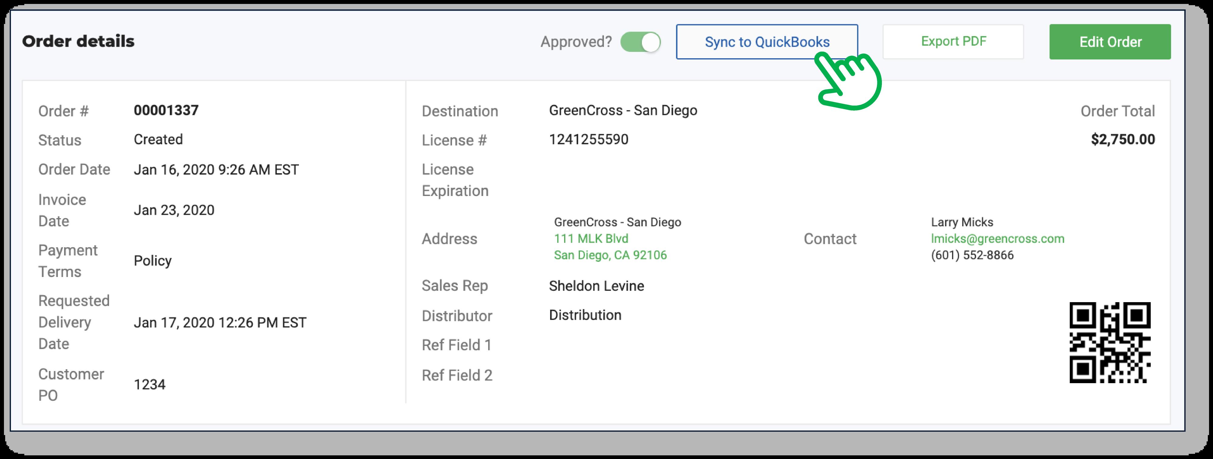 Flourish Software_Sync to QuickBooks