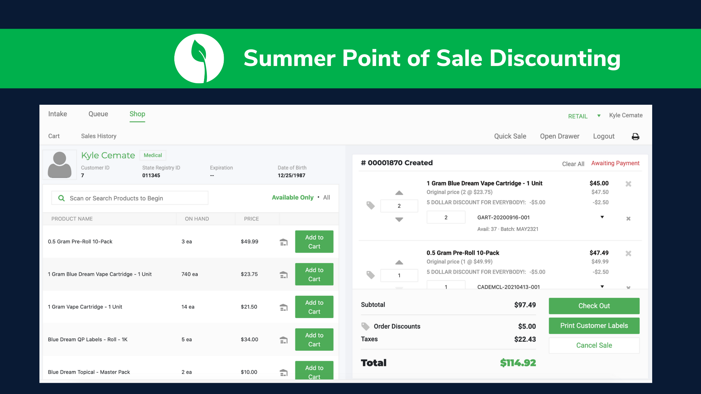 Summer Point of Sale Discounting