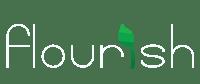 flourish logo white
