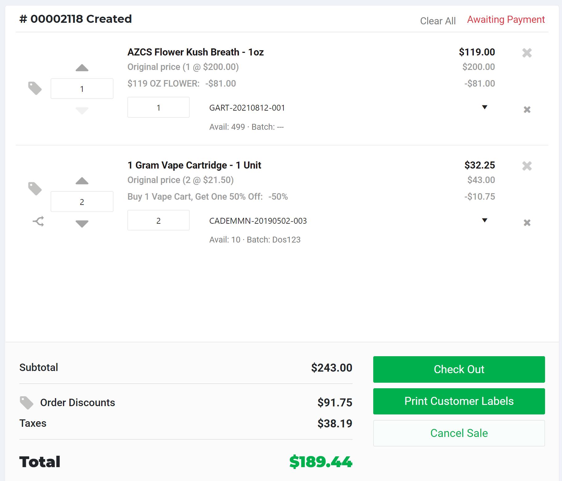 Retail-POS-Discount-Cart